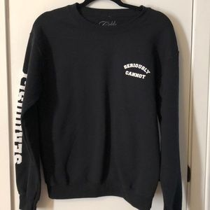 Cold Crush size Sm black sweatshirt